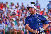 Shane Lowry (IRL) watches his tee shot on 1 during Saturday's round 3 of the 117th U.S. Open, at Erin Hills, Erin, Wisconsin. 6/17/2017.<br /> Picture: Golffile | Ken Murray<br /> <br /> <br /> All photo usage must carry mandatory copyright credit (&copy; Golffile | Ken Murray)