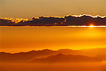 Sunset over Angel Island, from the Berkeley Hills, California