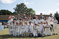The junior teams with some of the Essex players before Upminster CC vs Essex CCC, Benefit Match Cricket at Upminster Park on 8th September 2019