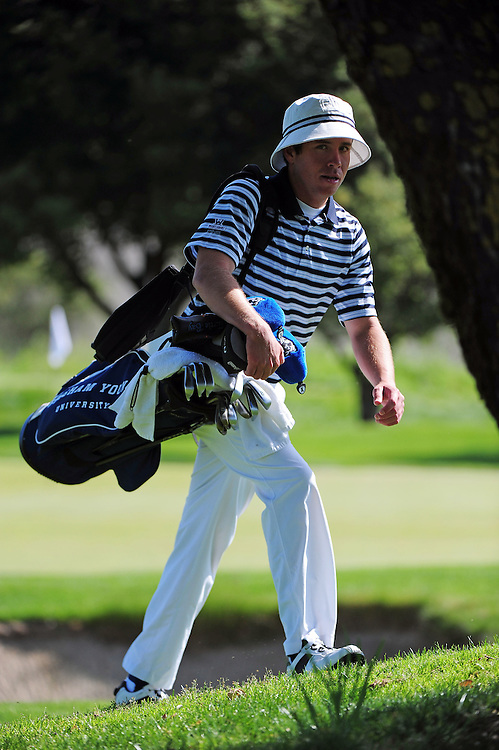 April 18, 2012; Hollister, CA, USA; BYU Cougars golfer Justin Keiley during the WCC Golf Championships at San Juan Oaks Golf Club.
