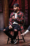 "Terrance Spencer on stage during The Rockefeller Foundation and The Gilder Lehrman Institute of American History sponsored High School student #eduHam matinee performance of ""Hamilton"" Q & A at the Richard Rodgers Theatre on November 7, 2018 in New York City."