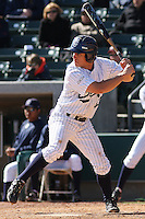 Jordan Fox of the University of California at Irvine hitting in a game against James Madison University at the Baseball at the Beach Tournament held at BB&T Coastal Field in Myrtle Beach, SC on February 28, 2010.