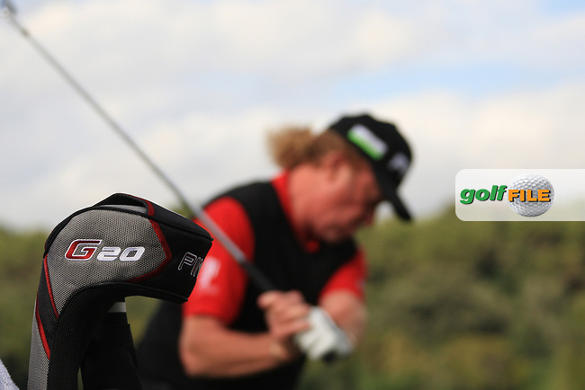Miguel Angel Jimenez (ESP) and his G20 Ping Driver during the pro-am at the  Andalucía Masters at Club de Golf Valderrama, Sotogrande, Spain. .Picture Fran Caffrey www.golffile.ie