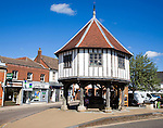 The historic Market Cross building in the town of  Wymondham, Norfolk, England