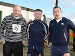Martin Rooney, Francis McBrid and James Ward at the Wild Goose Lodge run at Westerns GAA Club Reaghstown. Photo:Colin Bell/pressphotos.ie