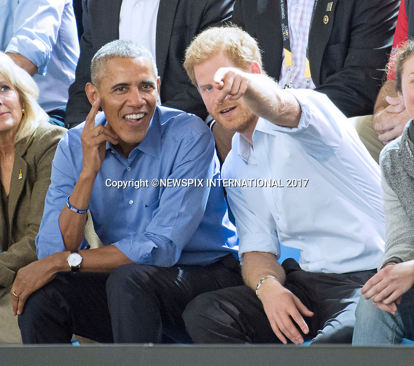 President Obama & Prince Harry At Invictus Basketball2