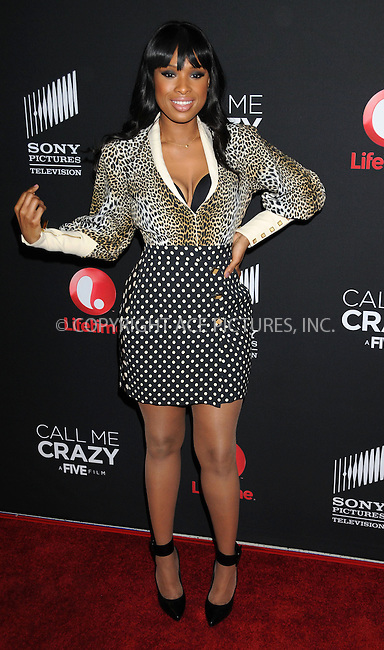 WWW.ACEPIXS.COM....US Sales Only....April 16 2013, LA....Jennifer Hudson arriving at the World Premiere Of The Lifetime Original Movie Event 'Call Me Crazy: A Five Film' at Pacific Design Center on April 16, 2013 in West Hollywood, California.....By Line: Famous/ACE Pictures......ACE Pictures, Inc...tel: 646 769 0430..Email: info@acepixs.com..www.acepixs.com
