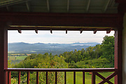 Weeks State Park - Scecnic view from the John Wingate Weeks Estate on the summit of Mt. Prospect in Lancaster, New Hampshire USA.