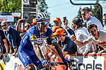 Julian Alaphilippe (FRA) Quick-Step Floors wins La Fleche Wallonne 2018 running 198.5km from Seraing to Huy, Belgium. 18/04/2018.<br /> Picture: ASO/Karen Edwards | Cyclefile <br /> <br /> All photos usage must carry mandatory copyright credit (&copy; Cyclefile | ASO/Karen Edwards)