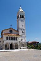 Italy, Collio. San Floriano del Collio. The church.