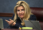 Nevada Assemblywoman Michele Fiore, R-Las Vegas, works in committee at the Legislative Building in Carson City, Nev., on Tuesday, March 17, 2015. <br /> Photo by Cathleen Allison