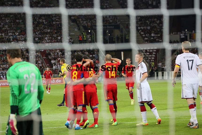 Torjubel Armenien beim 1:1 - Deutschland vs. Armenien in Mainz