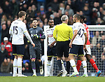 Tottenham's Danny Rose argues with Arsenal's Danny Welbeck at half time<br /> <br /> Barclays Premier League- Tottenham Hotspurs vs Arsenal  - White Hart Lane - England - 7th February 2015 - Picture David Klein/Sportimage