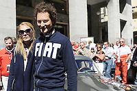 1000 MIGLIA 2012 JOHN ELKANN NELLA FOTO JOHN ELKANN CON LA MOGLIE LAVINIA BORROMEO ALLA 1000 MIGLIA BRESCIA 17/05/2012 FOTO MATTEO BIATTA<br /> <br /> 1000 MIGLIA 2012 JOHN ELKANN IN THE PICTURE JOHN ELKANN WITH HIS WIFE LAVINIA BORROMEO AT THE 1000 MIGLIA HISTORICAL RACE BRESCIA 17/05/2012 PHOTO BY MATTEO BIATTA