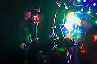 Fabio Novembre and your work We Dance during the Lexus Design Amazing 2014, on April 08, 2014. Photo: Adamo Di Loreto/BuenaVista*photo