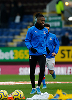 30th November 2019; Turf Moor, Burnley, Lanchashire, England; English Premier League Football, Burnley versus Crystal Palace; Wilfried Zaha of Crystal Palace warms up before the game - Strictly Editorial Use Only. No use with unauthorized audio, video, data, fixture lists, club/league logos or 'live' services. Online in-match use limited to 120 images, no video emulation. No use in betting, games or single club/league/player publications