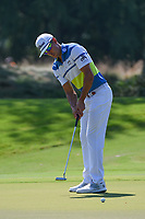 Rafael Cabrera Bello (ESP) watches his putt on 1 during round 4 of the WGC FedEx St. Jude Invitational, TPC Southwind, Memphis, Tennessee, USA. 7/28/2019.<br /> Picture Ken Murray / Golffile.ie<br /> <br /> All photo usage must carry mandatory copyright credit (© Golffile | Ken Murray)