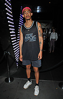 Jordan Stephens of Rizzle Kicks at the Daisie new app launch party, The Perception at W London Hotel, Wardour Street, London, England, UK, on Friday 03 August 2018.<br /> CAP/CAN<br /> &copy;CAN/Capital Pictures