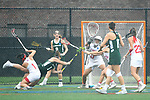 TAMPA, FL - MAY 20: Bryanna Fazio #14 of the Le Moyne Dolphins scores against the Florida Southern Mocs during the Division II Women's Lacrosse Championship held at the Naimoli Family Athletic and Intramural Complex on the University of Tampa campus on May 20, 2018 in Tampa, Florida. Le Moyne defeated Florida Southern 16-11 for the national title. (Photo by Jamie Schwaberow/NCAA Photos via Getty Images)