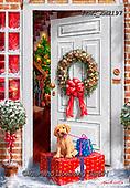 Marcello, CHRISTMAS SYMBOLS, WEIHNACHTEN SYMBOLE, NAVIDAD SÍMBOLOS, paintings+++++,ITMCXM2197,#xx# ,door,wreath,