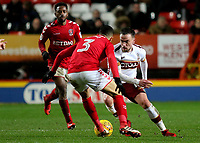 Paul Taylor of Bradford City takes on Charlton's Ahmed Kashi during Charlton Athletic vs Bradford City, Sky Bet EFL League 1 Football at The Valley on 13th February 2018
