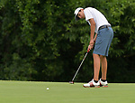 Austin Jacobs of the Whitmoor Country Club birdies on the third green on the first day of the Metropolitan Amateur Golf Association's 20th Junior Amateur Championship being held at the St. Clair Country Club in Belleville, IL on July 1, 2019. <br /> Tim Vizer/Special to STLhighschoolsports.com