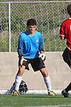Palos Verdes, CA 02/03/12 - Tyler Eliel (Peninsula #1) in action during the Peninsula vs Palos Verdes boys varsity soccer game.