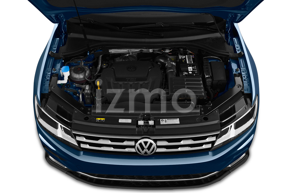 Car stock 2019 Volkswagen Tiguan Confrontline-business  5 Door SUV engine high angle detail view