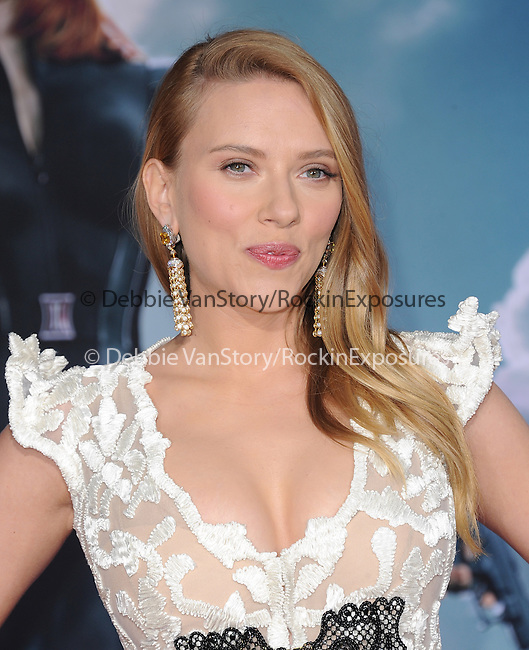 Scarlett Johansson attends The Marvel World Premiere of Captain America; The Winter Soldier held at The El Capitan in Hollywood, California on March 13,2014                                                                               © 2014 Hollywood Press Agency