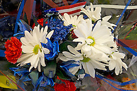 Patriotic bouquet for sale at Wal-Mart, 2011.