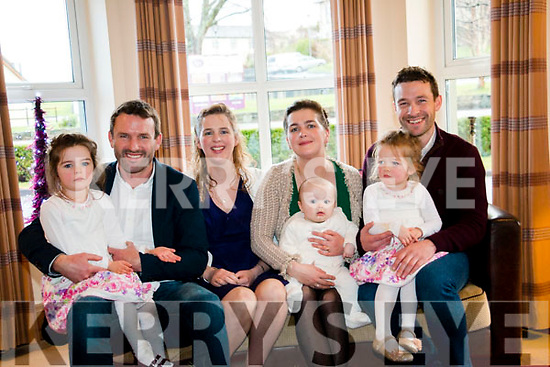 Conor Cremin Christening on Thursday 28th in Brooklane Hotel. <br /> Chloe Cremin, Connie Cremin (Godfather), Sarah Toland (Godmother), Niamh McCarthy (Mother), Anna Cremin and Patrick Cremin.