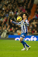 Deportivo de la Coruna's Isaac Cuenca during 2014-15 La Liga match between Real Madrid and Deportivo de la Coruna at Santiago Bernabeu stadium in Madrid, Spain. February 14, 2015. (ALTERPHOTOS/Luis Fernandez) /NORTEphoto.com