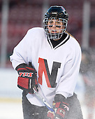 Lindsay Berman (NU - 13) - The Northeastern University Huskies practice on the ice at Fenway Park on Thursday, January 7, 2010, in Boston, Massachusetts.