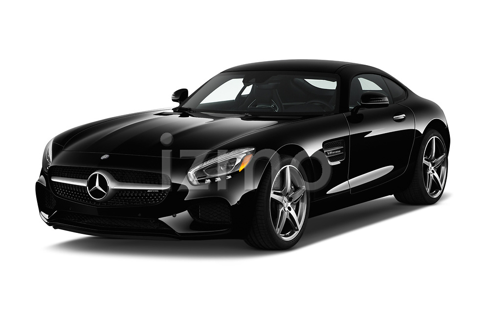 2016 Mercedes Benz AMG-GT AMG-GT-S 3 Door Coupe Angular Front stock photos of front three quarter view