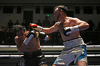 Fred Evans (white shorts) defeats Wilmer Gonzalez during a Boxing Show at York Hall on 15th February 2020