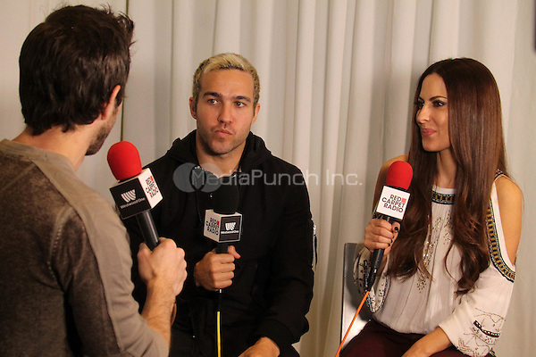 LOS ANGELES, CA - FEBRUARY 5: Pete Wentz, Kerri Kasem at Red Carpet Radio (#RedCarpetRadio) Presents Grammy Radio Row Day 1 at The Staples Center in Los Angeles, California on February 5, 2015. Credit: David Edwards/DailyCeleb/MediaPunch