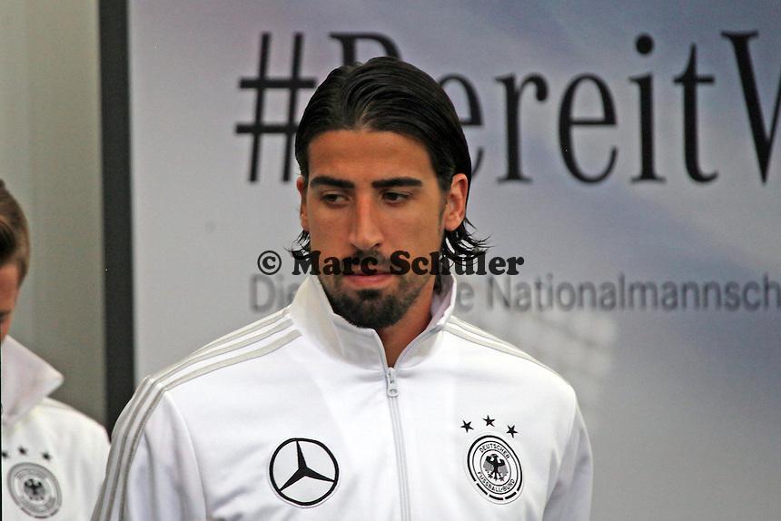 Sami Khedira ist bereit - Pressekonferenz der Deutschen Nationalmannschaft  im Rahmen der WM-Vorbereitung in St. Martin