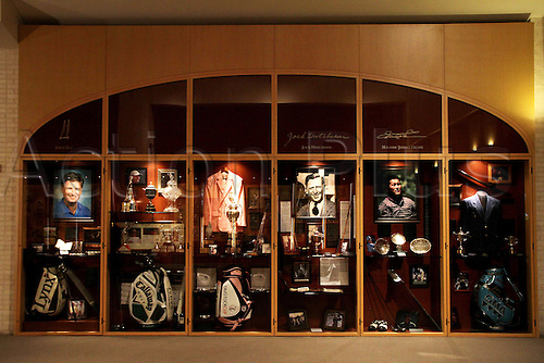 World Golf Hall of Fame's golfers locker, MAY 9th, 2011 - Golf : The lockers and displayed mementoes of PGA Hall of Fame golfers are seen at the World Golf Hall of Fame 2011 Induction Ceremony in St Augustine, Florida.