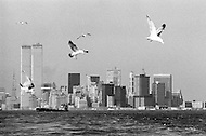 Early 1970s. Lower Manhattan Skyline view.