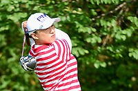 Amy Yang (KOR)  watches her tee shot on 11 during Friday's round 2 of the 2017 KPMG Women's PGA Championship, at Olympia Fields Country Club, Olympia Fields, Illinois. 6/30/2017.<br /> Picture: Golffile | Ken Murray<br /> <br /> <br /> All photo usage must carry mandatory copyright credit (&copy; Golffile | Ken Murray)