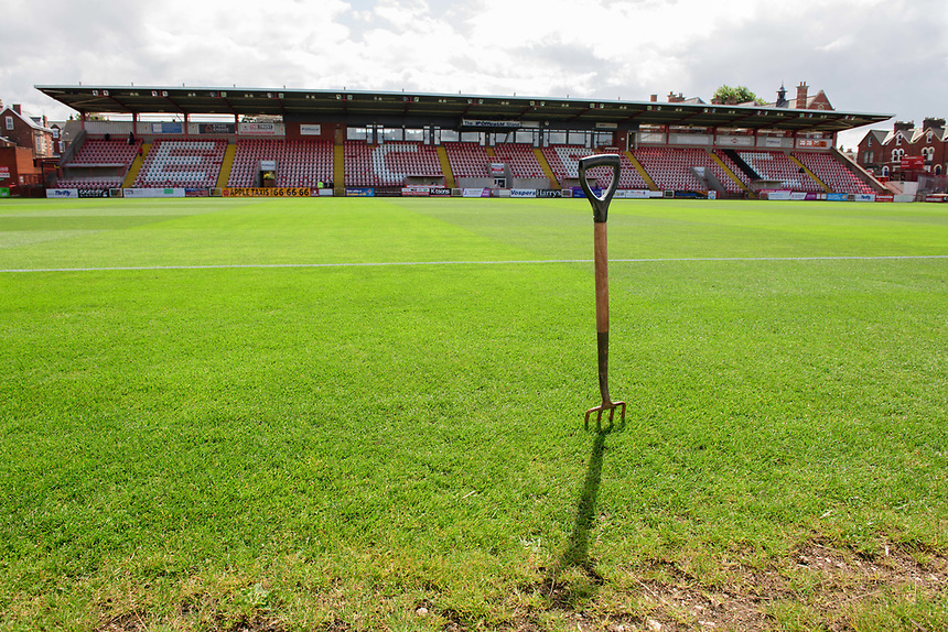 A general view of St James Park, home of Exeter City FC<br /> <br /> Photographer Chris Vaughan/CameraSport<br /> <br /> The EFL Sky Bet League Two - Exeter City v Lincoln City - Saturday 19th August 2017 - St James Park - Exeter<br /> <br /> World Copyright &copy; 2017 CameraSport. All rights reserved. 43 Linden Ave. Countesthorpe. Leicester. England. LE8 5PG - Tel: +44 (0) 116 277 4147 - admin@camerasport.com - www.camerasport.com