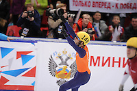"SHORT TRACK: MOSCOW: Speed Skating Centre ""Krylatskoe"", 14-03-2015, ISU World Short Track Speed Skating Championships 2015, Final A 1500m Men, Sjinkie KNEGT (#148 