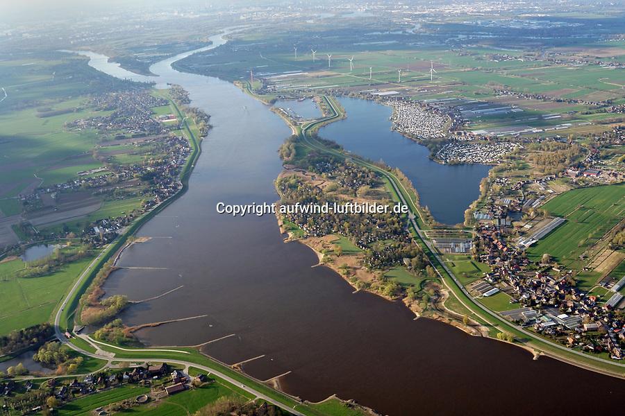 Hohendeicher See: EUROPA, DEUTSCHLAND, HAMBURG, 10.04.2019: Elbe Landschaft beim Hohendeicher See