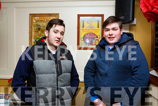 Blake O'Gorman (Tarbert) and Declan McEnery (Moyvanne) supporting the Recovery Haven fundraiser in the Brogue Inn on Tuesday morning last.