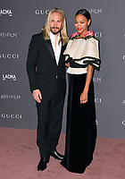 Zoe Saldana &  Ezio Perego at the 2017 LACMA Art+Film Gala at the Los Angeles County Museum of Art, Los Angeles, USA 04 Nov. 2017<br /> Picture: Paul Smith/Featureflash/SilverHub 0208 004 5359 sales@silverhubmedia.com