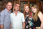Paul Morrisson, Anthony Wogan, Sinead Durkan and Emma Wogan celebrating Anthony's birthday in Shooters...Photo NEWSFILE/Jenny Matthews.(Photo credit should read Jenny Matthews/NEWSFILE)....This Picture has been sent you under the condtions enclosed by:.Newsfile Ltd..The Studio,.Millmount Abbey,.Drogheda,.Co Meath..Ireland..Tel: +353(0)41-9871240.Fax: +353(0)41-9871260.GSM: +353(0)86-2500958.email: pictures@newsfile.ie.www.newsfile.ie.FTP: 193.120.102.198.