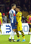 30.11.2019, OLympiastadion, Berlin, GER, DFL, 1.FBL, Hertha BSC VS. Borussia Dortmund, <br /> DFL  regulations prohibit any use of photographs as image sequences and/or quasi-video<br /> im Bild Vedad Ibisevic (Hertha BSC Berlin #19), Jadon Malik Sancho (Borussia Dortmund #7)<br /> <br />       <br /> Foto © nordphoto / Engler