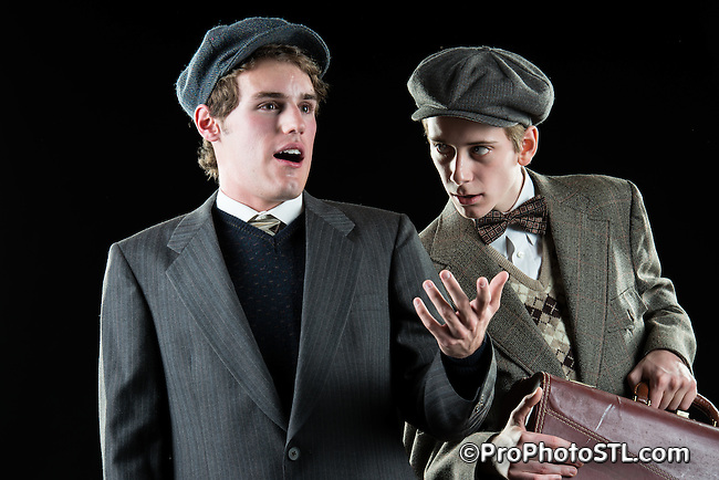 """Publicity images of """"Lost in Yonkers"""" by New Jewish Theatre in St. Louis, MO."""