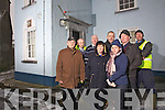 Concerned esidents from Brosna Village pictured on Wednesday outside the local Garda Station which is due to close at the end of January, pictured l-r: Terry Fay, Pat Dillane, David Horan, Kathleen Connolly, Mike Walsh, Katie Walsh and Mike Brosnan.