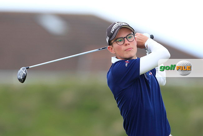 Paul Beauvy (FRA) on the 5th tee during Round 1 of the The Amateur Championship 2019 at The Island Golf Club, Co. Dublin on Monday 17th June 2019.<br /> Picture:  Thos Caffrey / Golffile<br /> <br /> All photo usage must carry mandatory copyright credit (© Golffile | Thos Caffrey)